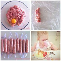 РЕЦЕПТ: Детские куриные сосиски Куриное филе -4 штуки1 яйцо100 мл молокасоль (по желанию, я ее не добавляла)пищевая пленка
