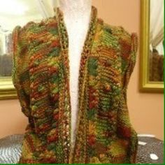 Beautiful color tread vest cotton Cotton colorful color very nice vest for any color pants and skirt hand custom  Jackets & Coats Vests