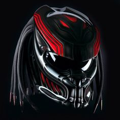 Color : Red With Black We use full helmet DOT as its base and Fiber Resin  great Fiber for Predator parts. Helmet come with Red Tri-Laser  with on-off switch. Size : S - M - L - XL  »To the...@ artfire