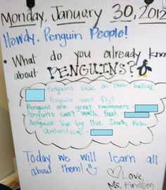 Morning Message-Penguin Theme