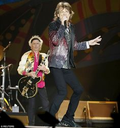 Jumping Jack Flash! He may be 72-year-old, but Mick Jagger