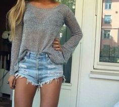 sweaters and cutoffs