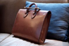 leather bag with awesome clasp
