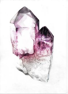 Artistry in Amethyst. Get inspired by gemstones in their natural state with this stunning sketch. Art And Illustration, Illustration Inspiration, Crystals And Gemstones, Stones And Crystals, Designs Henna, Cristal Art, Crystal Drawing, Mineral Stone, Rocks And Gems