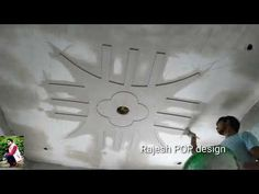Rajesh Kumar - YouTube Plaster Ceiling Design, House Ceiling Design, Ceiling Design Living Room, Bedroom False Ceiling Design, Pop Design For Roof, Bedroom Pop Design, House Front Wall Design, Door Design Interior, Decorative Wall Panels