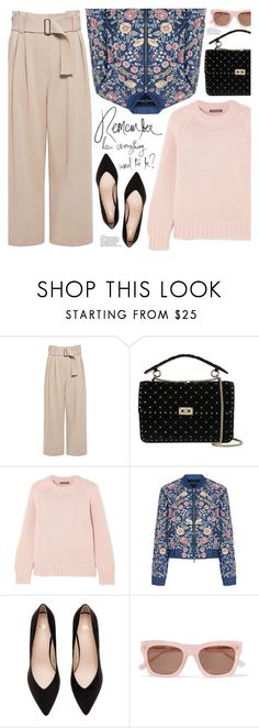 """remember how everything used to be?"" by valentino-lover on Polyvore featuring A.L.C., Valentino, Alexander McQueen, Needle & Thread and Ganni"