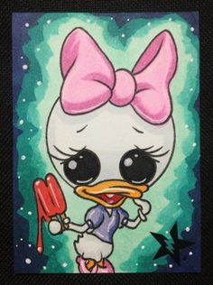 Sugar Fueled Daisy Duck Popsicle pop by Sugarfueledart