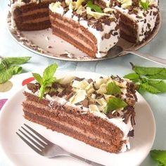 Mint Chocolate Cake - translator on the side.