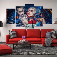 Suicide Squad The Joker and Harley Quinn Jared by CharmOfCanvasArt