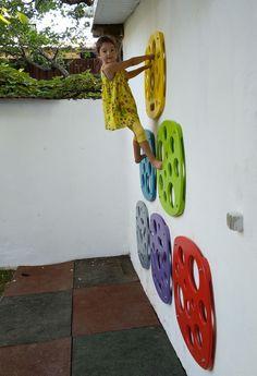 Indoor Climbing Wall, Kids Climbing, Toddler Climbing Wall, Rock Climbing Walls, Backyard Play, Backyard For Kids, Diy For Kids, Indoor Playroom, Kids Basement