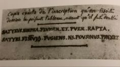"Inscription on the back of "" LANDSCAPE WITH SLEEPING SATYR "".  SATYRVS. NINPHA. FLVMEN. ET. PVER. RAPTA. SATYRI. FISTVIA. FVGIENS. NS. POVSINVS. PINXIT. Nicolas Poussin, Satyr, Landscape, Scenery, Corner Landscaping"