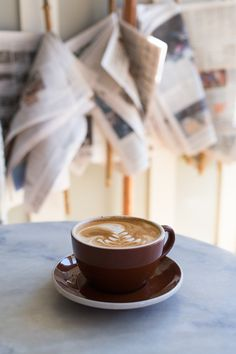 coffee - i would love to have a coffee bar during the day, and I love those newspapers