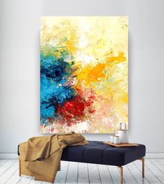 Extra Large Wall Art Original Art Bright Abstract Original Painting On Canvas Extra Large Artwork Contemporary Art Modern Home Decor Extra große Wandkunst Original Art Bright Abstract Original Large Abstract Wall Art, Large Artwork, Contemporary Abstract Art, Extra Large Wall Art, Modern Art, Contemporary Decor, Contemporary Artists, Original Paintings, Original Art