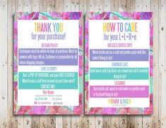 Custom Care Cards Printable Home Office Compliant Font and Colors Mandala Paisley Thank You Cards Digital Care Cards Fashion Retailer Thank You Card Design, Thank You Card Template, Card Templates, Thank You Cards, Lularoe Business Cards, Business Card Design Inspiration, Online Print Shop, Printable Cards, Marketing Materials