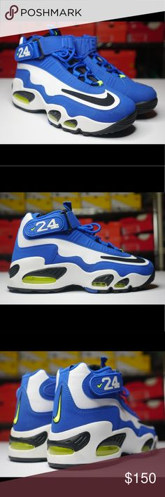 differently 40737 eec81 Nike Air Griffey Max 1 Varsity Royal Blue Volt Nike Air Griffey Max 1  Varsity Royal Blue White Volt Men s Size Brand New with Box Nike Shoes  Athletic Shoes