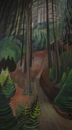 The Path, Emily Carr. Country Artists, Canadian Artists, Emily Carr Paintings, Clarence Gagnon, Group Of Seven, Impressionist Paintings, Whistler, Inspiring Art, Painting Inspiration