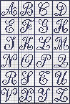Free Easy Cross, Pattern Maker, PCStitch Charts + Free Historic Old Pattern Book. - Free Easy Cross, Pattern Maker, PCStitch Charts + Free Historic Old Pattern Books: Sajou No 655 - Crochet Alphabet, Crochet Letters, Cross Stitch Alphabet Patterns, Cross Stitch Letters, Letter Patterns, Cross Patterns, Cross Stitch Charts, Pattern Books, Cross Stitch Designs