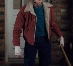 Red Shearling Jacket - Nancy Wheeler Stranger Things Costume