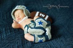 Dallas Cowboy Football Inspired Newborn Outfit
