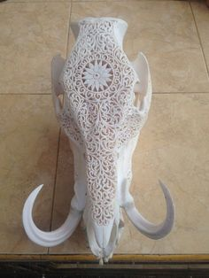 Bull Skulls, Deer Skulls, Animal Skulls, Carved Skulls, Skull Crafts, Antler Crafts, Antler Art, Cow Skull Decor, Skull Art
