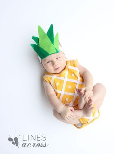 no sew pineapple baby costume