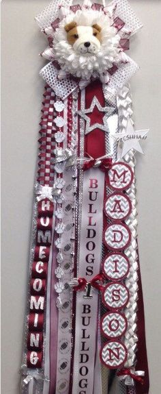 A personal favorite from my Etsy shop https://www.etsy.com/listing/462776629/custom-homecoming-mum-single-typical-of
