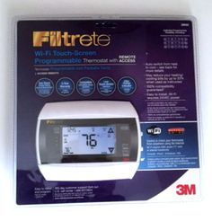 Filtrete 3M50 Wi-Fi Touch-Screen Programmable Thermostat w/Remote Access Sealed #Filtrete