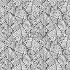 Vector illustration leaves of palm tree  Seamless pattern  photo