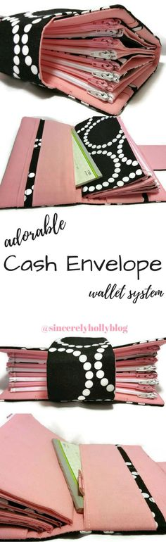 DIY sewing sewn cash envelope system wallet, perfect for the Dave - zero based budget spreadsheet dave ramsey