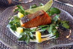 Salmon on a bed of spinach?