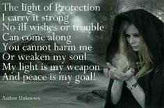 The Light of Protection Wicca Wiccan Witch, Magick Spells, Wicca Witchcraft, Witch Rituals, Real Spells, Healing Spells, Mantra, Motto, Protection Spells