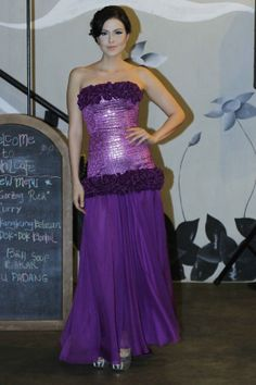 Purple Long Zakard Gown by KRISTOOFER