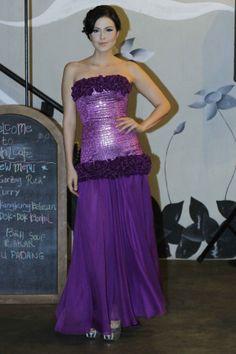 Purple Long Zakard Gown by KRISTOOFER