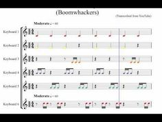 One Minute Boomwhacker piece - Notated (Accompaniment Only) for classroo. Music Classroom, Classroom Resources, Middle School Music, Music Worksheets, Music Station, School Videos, Music Activities, Elementary Music, Music For Kids
