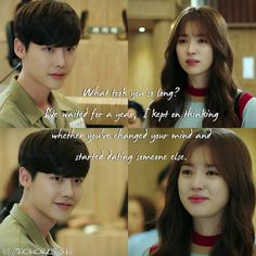 Lee Jung-suk and Han Hyo-joo W Korean Drama, Korean Drama Quotes, W Kdrama, Kdrama Memes, Lee Jong Suk Cute, Lee Jung Suk, Kang Chul, Korean Language Learning, W Two Worlds