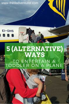 Flying with a toddler on a plane can be a parent's worst nightmare. You don't need bags and bags of stuff to keep them entertained though - simply use the things on the plane! Click through to read my 5 alternative ways to entertain a toddler on a plane.
