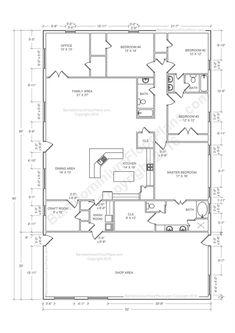Morton Building Homes, Metal Building House Plans, Shed House Plans, Pole Barn House Plans, Simple House Plans, Building Ideas, Morton Homes, Simple Floor Plans, House Plan With Loft