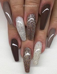 61 Coffin Gel Nail Designs For Fall 2018 The season will soon be changing into fall. A new season means new fashion and beauty trends. Fall is all about a mixture of warm, cool and dark colors. One of the easiest ways to wear these new autum. Colorful Nail Designs, Fall Nail Designs, Acrylic Nail Designs, Fabulous Nails, Gorgeous Nails, Stylish Nails, Trendy Nails, Cute Acrylic Nails, Gel Nails