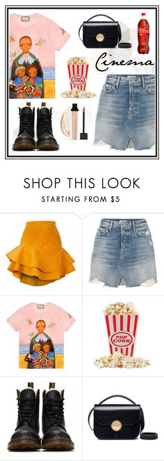 """""""cinema"""" by madedinorog ❤ liked on Polyvore featuring Siobhan Molloy, GRLFRND, Gucci, Dr. Martens and Marni"""