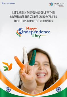 Let's Arisen the Young Souls withing & remember the Soldiers who scarified their lives to protect our NATION. Internship Program, Happy Independence, Ahmedabad, Soldiers, No Response, Digital Marketing, Let It Be, Technology, Learning
