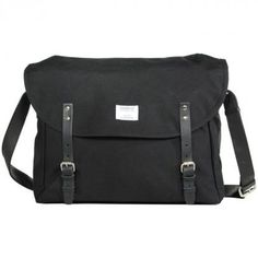 "Erik (black)  is a messenger bag from the swedish label ""sandqvist"" and fits a 15"" notebook"