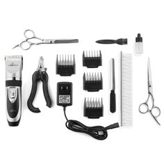Pet Union Professional Dog Grooming Kit - Rechargeable, Cordless Pet Grooming Clippers & Complete Set of Dog Grooming Tools. Low Noise & Suitable for Dogs, Cats and Other Pets - OneworldOneshop Dog Grooming Tools, Dog Grooming Clippers, Dog Grooming Supplies, Grooming Kit, Dog Supplies, Poodle Hair, Kinds Of Dogs, My Hairstyle, Shih Tzu
