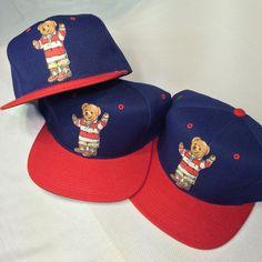 eed7e694b2b RARE Vintage polo Ralph Lauren Polo Bear Hat  Deadstock