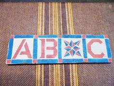 Handmade Rustic Primitive Wooden ABC Sign by OrphanedTreasure