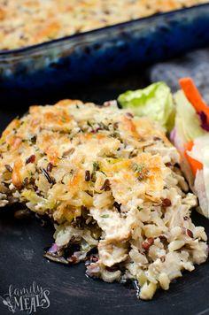 Chicken Wild Rice Casserole - FamilyFreshMeals.com