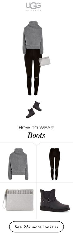 """""""Boot Remix with UGG : Contest Entry"""" by azzra on Polyvore featuring UGG Australia, River Island, Acne Studios and Sole Society"""