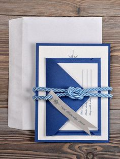 Wedding Inspiration: Sailor's knot invites for your nautical nuptials