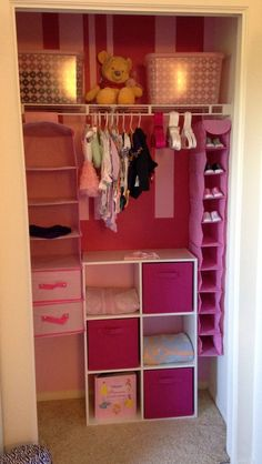 Baby closet organization ideas baby girl closet organizer best nursery closet organization ideas on baby nursery Baby Bedroom, Nursery Room, Girls Bedroom, Girl Nursery, Room Baby, Nursery Ideas, Child's Room, Baby Girl Bedroom Ideas, Kid Bedrooms