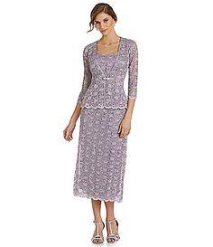 R and M Richards Lace Jacket Dress #Dillards