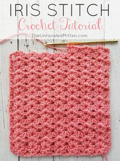 The Iris crochet stitch is an easy, elegnt shell type stitch with a one row repeat. Its excellant drape make is a great choice for blankets, scraves, home decor and more!